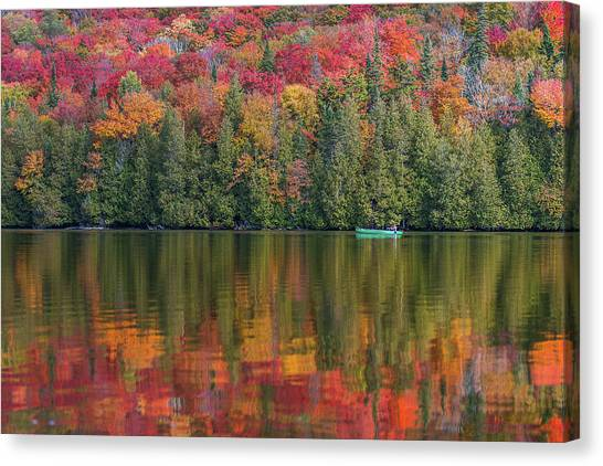Fall In A Canoe Canvas Print