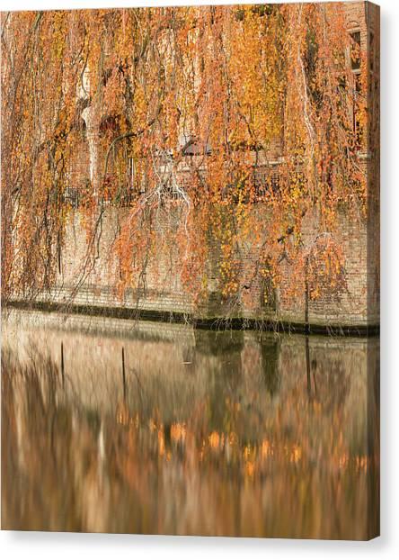 Fall In Bruges, Belgium Canvas Print