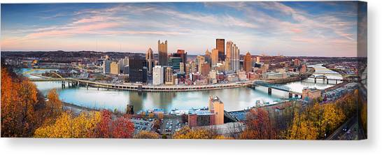 Pittsburgh Pirates Canvas Print - Fall In Pittsburgh  by Emmanuel Panagiotakis