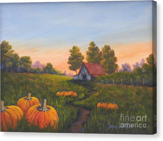 Fall In The Air Canvas Print by Jerry Walker