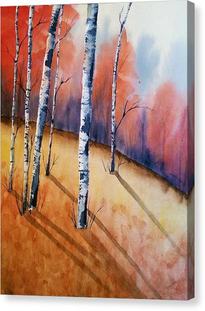 Fall In The Birches Canvas Print