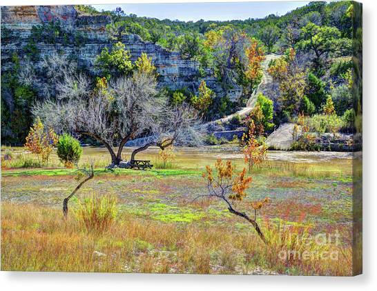 Fall In The Texas Hill Country Canvas Print