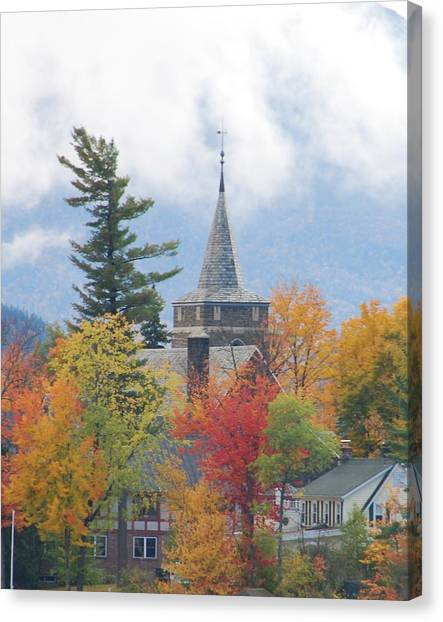 Fall In Upstate New York Canvas Print by Becky Hollis