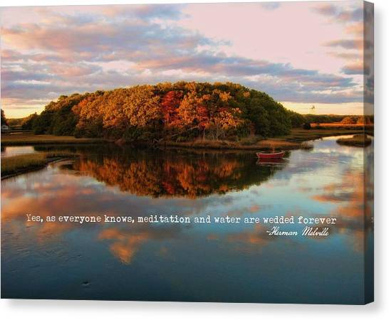 Fall In Wellfleet Quote Canvas Print by JAMART Photography