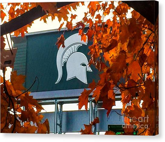 Fall Is Football Canvas Print