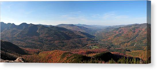 Fall Keene Valley Panorama Canvas Print
