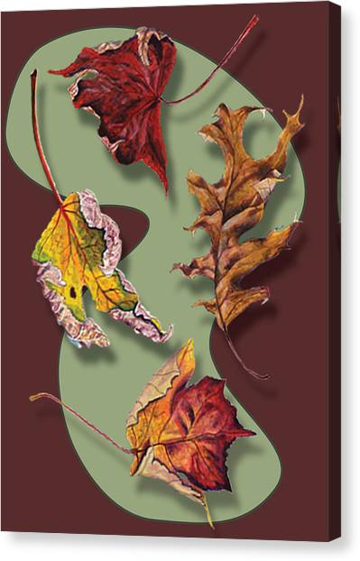 Fall Leaves Card Canvas Print