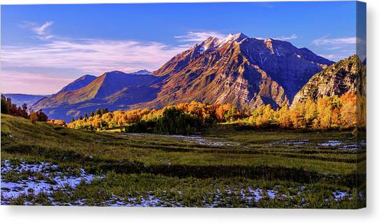 Sunsets Canvas Print - Fall Meadow by Chad Dutson
