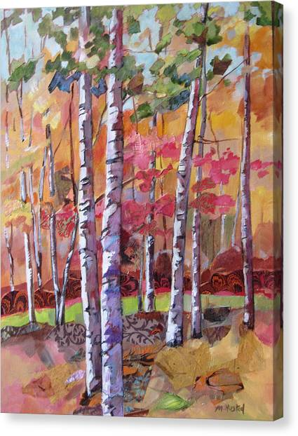 Fall Medley Canvas Print by Marty Husted