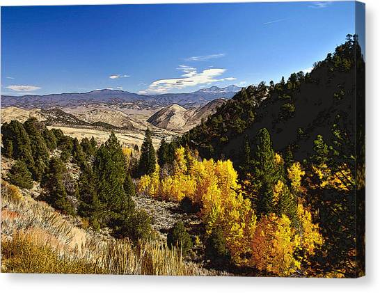 Fall Monitor Pass Canvas Print by Larry Darnell