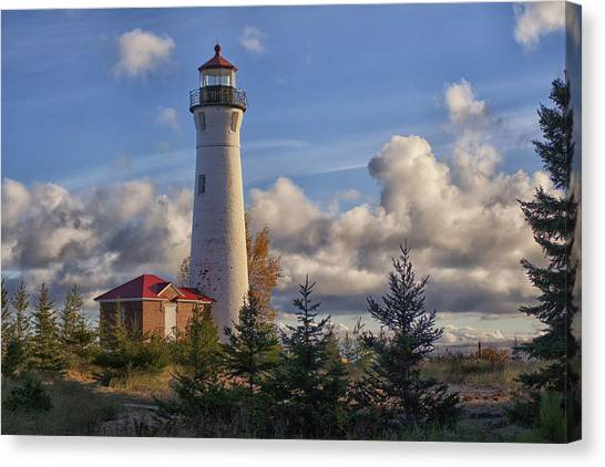 Fall Morning At Crisp Point Canvas Print