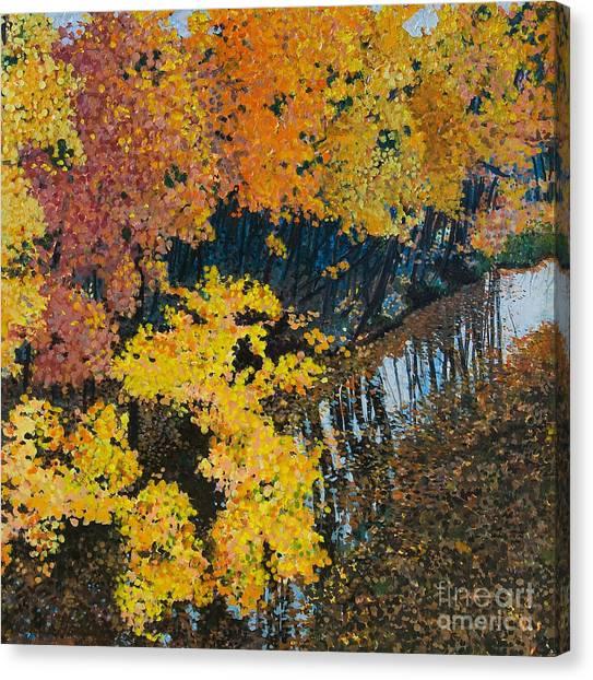 Fall Mosaic II Canvas Print by Lucinda  Hansen