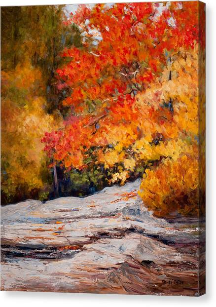 Fall Mountain Foliage Canvas Print
