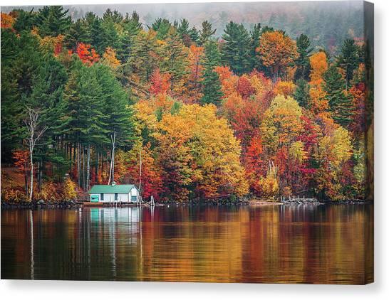 Fall On Lake Winnipesaukee Canvas Print