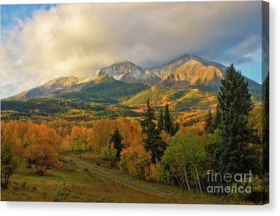 Fall On Mt Sopris  Canvas Print