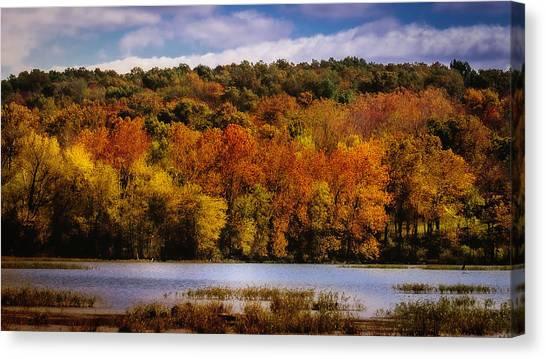 Fall On Springfield Lake Canvas Print