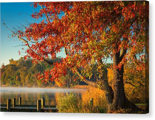 Fall On The Patuxent Canvas Print