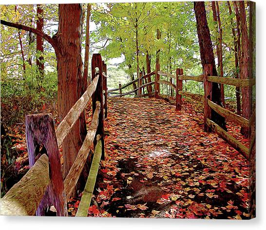 Fall Pathway Canvas Print