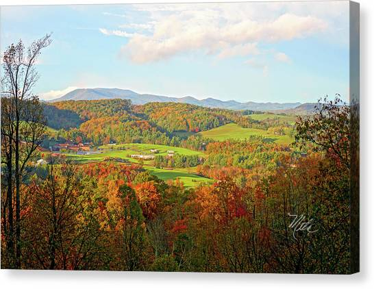 Fall Porch View Canvas Print