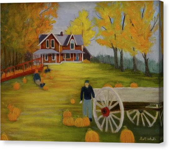 Fall Pumpkin Harvest Canvas Print