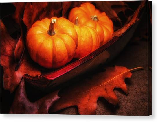 Pumpkins Canvas Print - Fall Pumpkins Still Life by Tom Mc Nemar