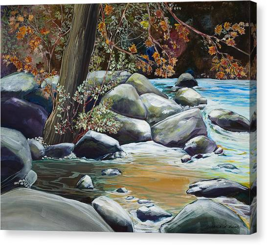 Fall Reflections Canvas Print by Sharole Ewing