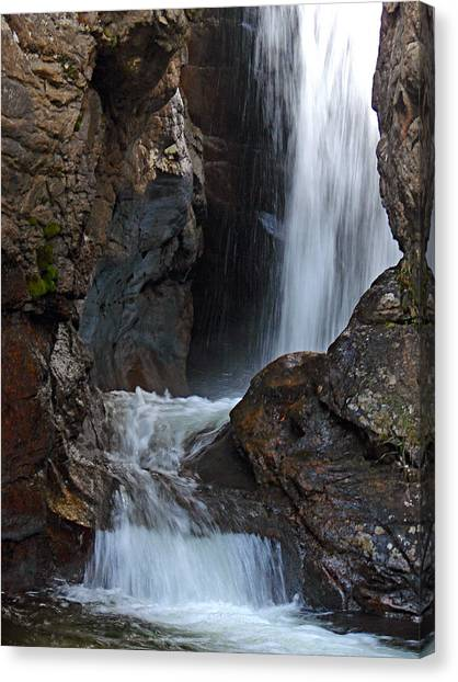 Fall River Road Waterfall Canvas Print