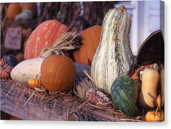 Fall-roadside-produce Canvas Print