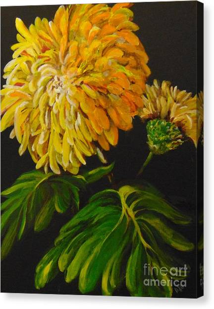 Canvas Print featuring the painting Fall by Saundra Johnson