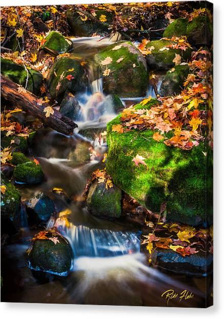 Fall Seasonal Water Cascade Canvas Print