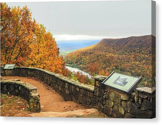 Thomas The Train Canvas Print - Fall, Signal Point # 1 by Tom and Pat Cory