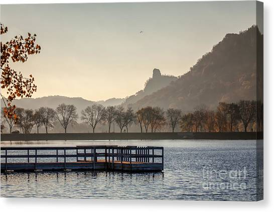 Fall Sugarloaf With Huff And Pier Canvas Print