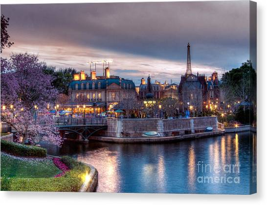 Fall Sunset Of France Canvas Print