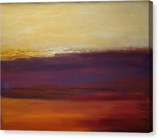 Fall Sunset Canvas Print by Ora Birenbaum