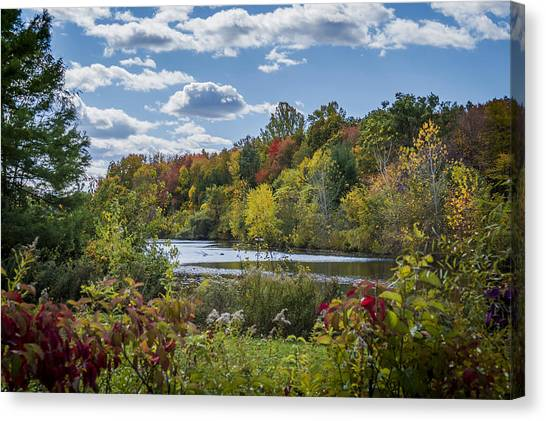 Fall Time On The Lake Canvas Print