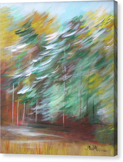 Fall Trees At The Ridge Canvas Print