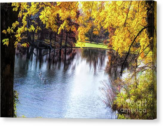 Fall Yellow Boarder Canvas Print