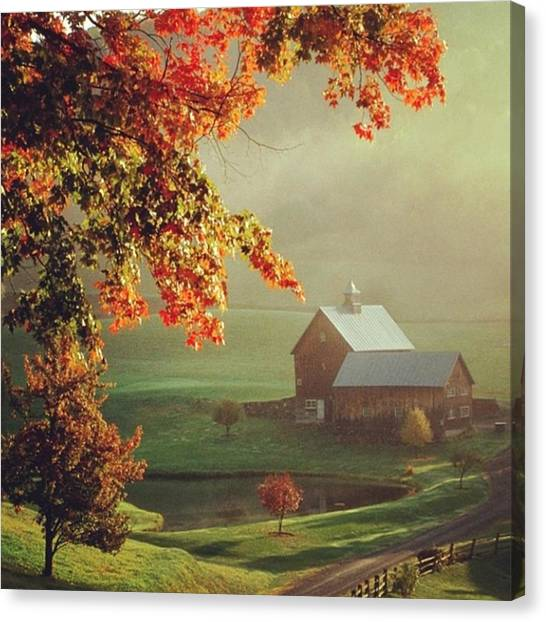 Ponds Canvas Print - #fall#barns by Hannah Brasseur