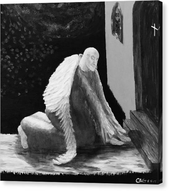 Fallen Angel Noir  Canvas Print