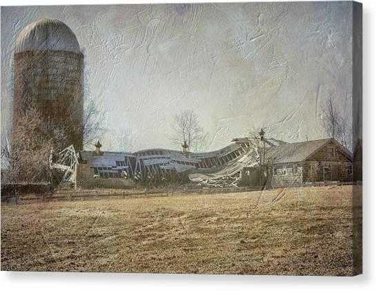 Fallen Barn  Canvas Print