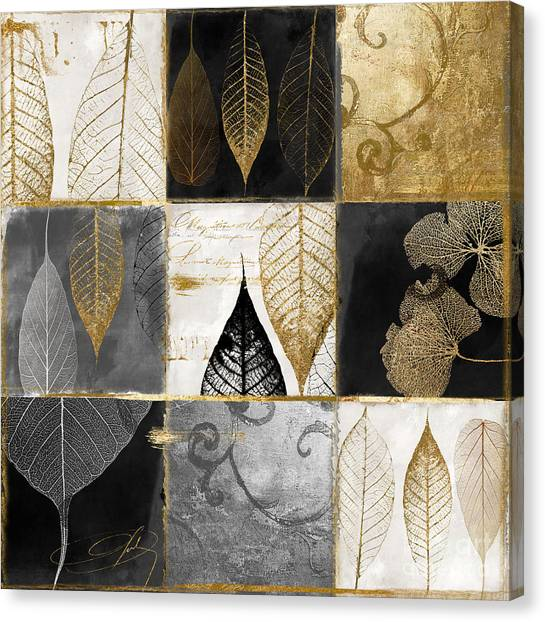 Gold Canvas Print - Fallen Gold Autumn Leaves by Mindy Sommers