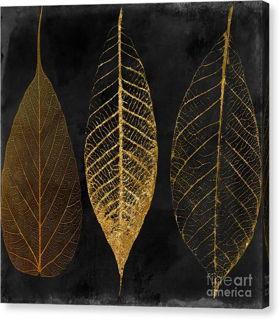 Gold Canvas Print - Fallen Gold II Autumn Leaves by Mindy Sommers