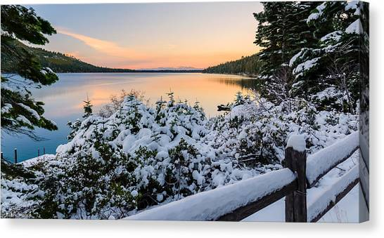 Fallen Leaf Lake Canvas Print