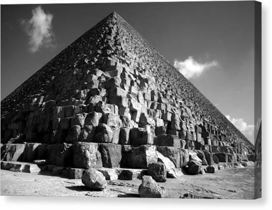 Fallen Stones At The Pyramid Canvas Print