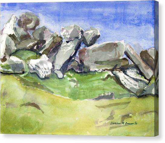 Fallen Stones Canvas Print