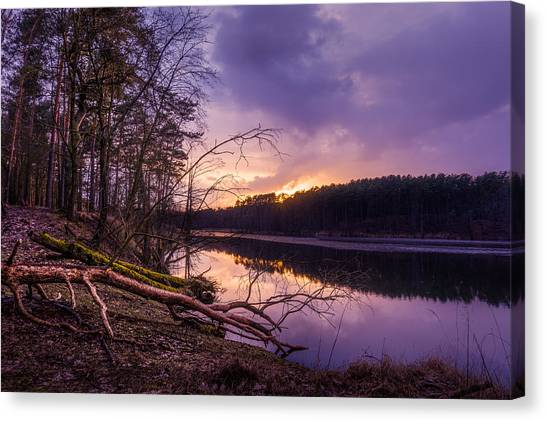 Fallen To The Setting Sun Canvas Print