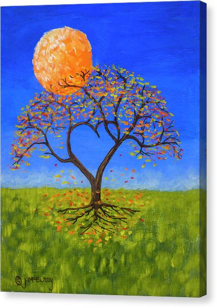 Moon Canvas Print - Falling For You by Jerry McElroy