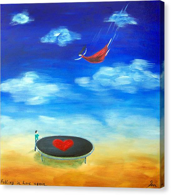 Trampoline Canvas Print - Falling In Love by Ira Mitchell-Kirk