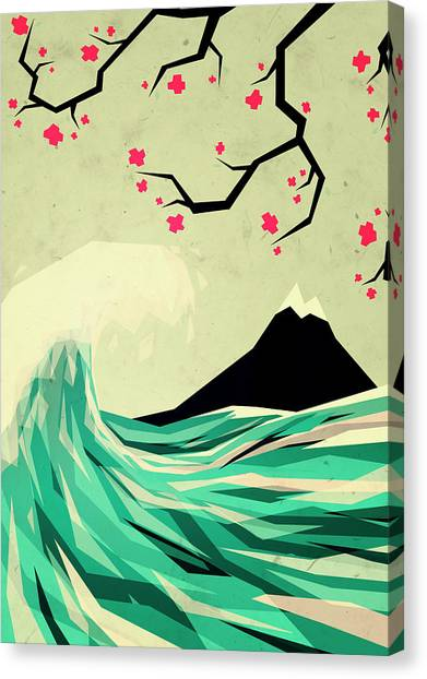Waves Canvas Print - Falling In Love by Yetiland