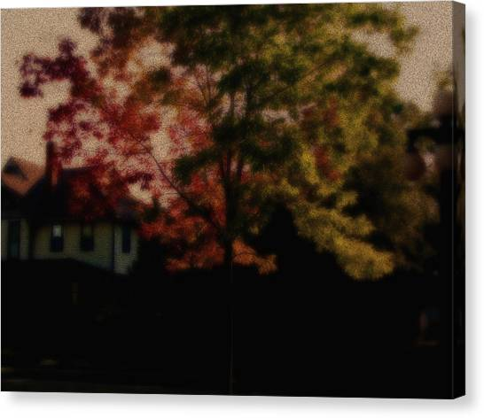 Falling Into Fall From The Past Canvas Print by Martin Morehead